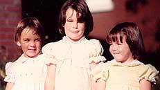 Singleton with twin siblings