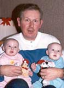 Grandfather with twins
